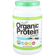 Orgain Organic Plant Based Protein Powder, Sweet Vanilla...