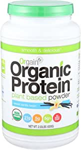 Orgain Organic Plant Based Protein Powder, Sweet Vanilla Bean, 2.03 Pound, 1 Count