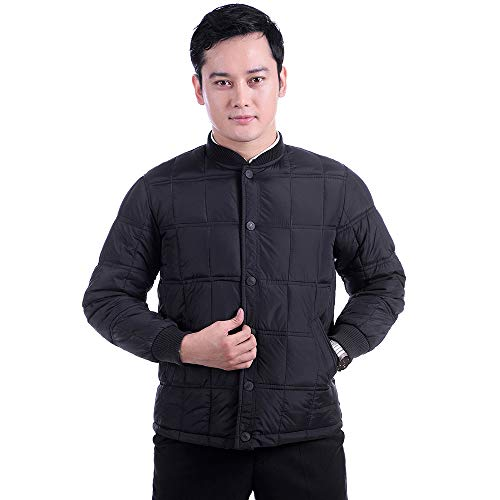 2 Casual Style Jacket Coat Cotton Thicken Jacket Thread Lighweight Round Cold Down ZEVONDA Men's Collar Jacket Resistant PZwRa