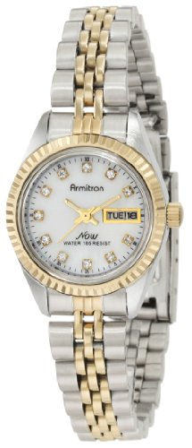 Armitron Women's 75/2475MOP Swarovski Crystal Accented Two-Tone Bracelet - Mop Watch Bracelet Tone Two