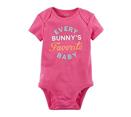 Carter's Baby Girls' Every Bunnys Favorite Bodysuit 6 (Baby Girls Favorite Cotton)