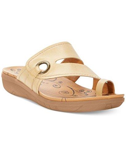 BareTraps Jones Womens Size 6 Sandals Honey Golden Tan Leather Shoe