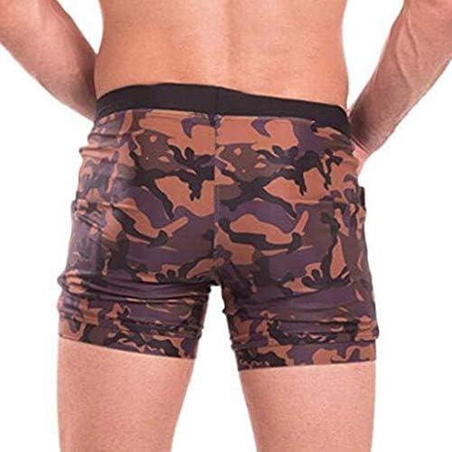 KPILP Homme Shorts de Bain-Homme Printemps et Et/é Camouflage Serr/é V/êtements de Poche Maillot de Bain 1 Pi/èce