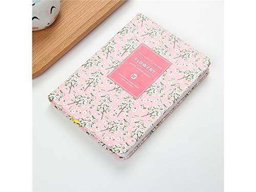 Cuaderno de abalorio de mano con diseño de cuaderno y cuadernos de papel para oficina o colegio (rosa)