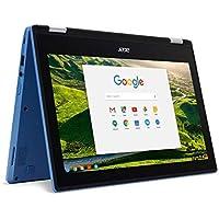 "Acer R11 Convertible 2-in-1 Chromebook in Blue/Black 11.6"" HD Touchscreen Gorilla Glass Intel Quad-Core 1.6Ghz 4GB RAM 32GB SSD Webcam BT Chrome OS (Certified Refurbished)"