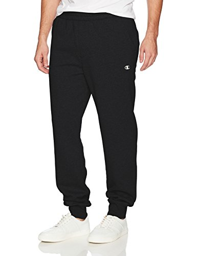 Champion Men's Authentic Originals Sueded Fleece Jogger Sweatpant, Black, Large