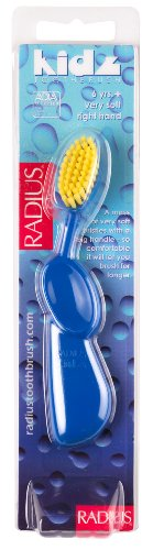 RADIUS Kidz Right Hand Toothbrush, Very Soft Bristles, Age 6 Yrs+, Colors May Vary (Pack of 6)