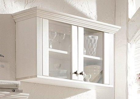 Hängevitrine weiß küche vitrine aus kiefernholz weiß lackiert hängeschrank schrank
