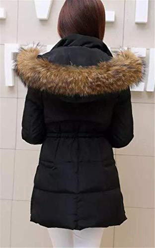 Schwarz Laterali Donna Saoye Tasche Caldo Con A Piumino Vestiti Transitional Cerniera Trapuntato Cappuccio Rv Coat Tinta Lunghe Maniche Unita Inverno Fashion 7rE7wqxPR
