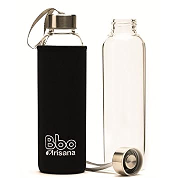 Irisana BBO Botella con Funda, Negro, 550 ml