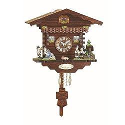Kuckulino Black Forest Clock Swiss House with quartz movement and cuckoo chime TU 2032 PQ