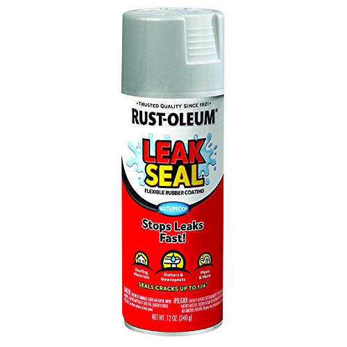 Rust-Oleum 267972 LeakSeal Flexible Rubber Coating Spray, 12 oz, Aluminum