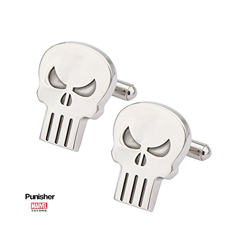 [Licensed Marvel Comics Punisher Skull Men's Cuff Links (with Gift Box)] (Punisher Costumes For Sale)