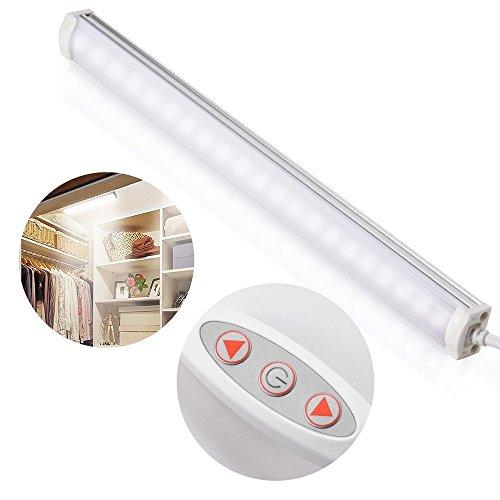 Zecti Luz Nocturna USB Luz Armario con 21 LED Lámpara Barra de Luces con Banda Magnética Luce de Clóset con 10 niveles de...