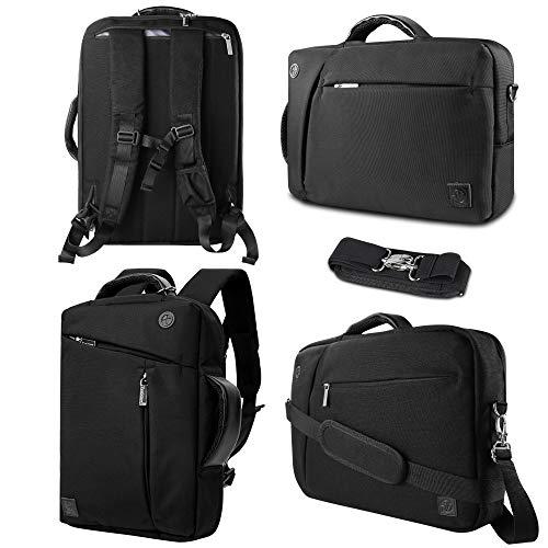Hideaway Backpack Straps - Laptop Bag 13.3-14 inch Briefcase Laptop Messenger Bag Water Repellent Computer Case Tablet Sleeve Backpack with Hideaway Shoulder Straps for College/School/Business/Women/Men