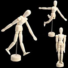 """Yosoo Wooden Human Mannequin/Figure Model with Stand for Table Display,Manikin Painting Drawing,Art Sketch-Movable Limbs, Flexible Fully Jointed (8"""" + 4.5"""" + 5.5"""")"""