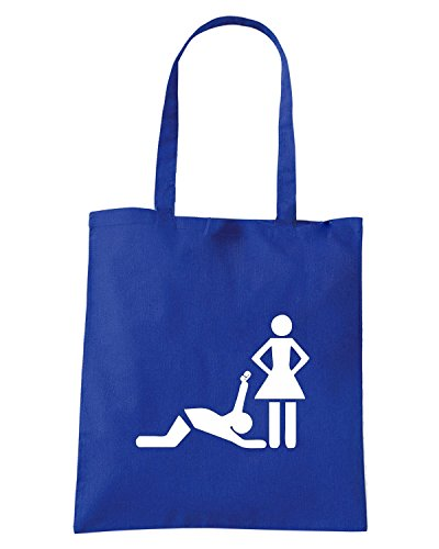 T-Shirtshock - Bolsa para la compra MAT0056 Marriage Maglietta Azul Real