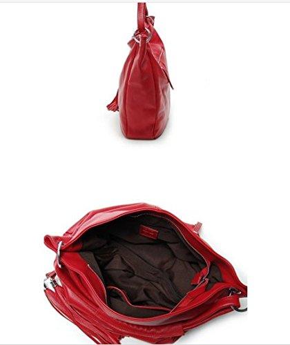 fille Cuir femme porté à Sac OHmais main bandoulière PU Sac Sac rouge pour en épaule aRxnqOwAU