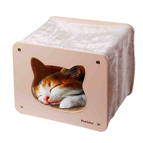 Petlike Indoor Cat Head Shape Cat House With Bed,Cat Tent Bed - Cat Shape Head