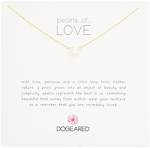 Dogeared Pearls of Love Gold/white 8mm Freshwater Pearl Necklace 18