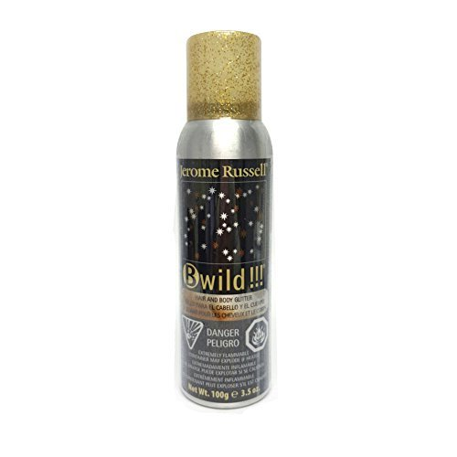 B-wild Hair and Body Glitter Spray Gold+silver 3.5 Oz **1 Can -