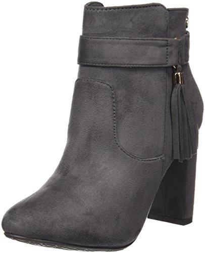 XTI Botin Sra. Antelina Gris, Zapatos De Tacón con Punta Cerrada para Mujer Gris (GRIS)