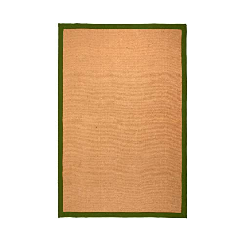 Blue Nile Mills Classic Collection Hand Woven Jute Rug (3'X5') - Green
