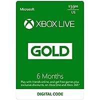 6-Month Microsoft Xbox Live Gold Membership [Digital Download]