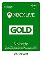 6 Month Xbox Live Gold Membership - [Digital Code]