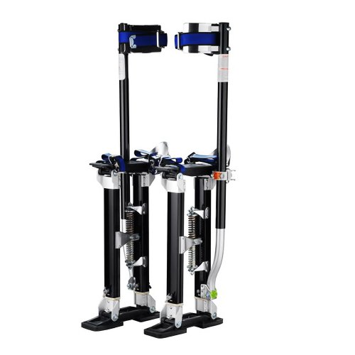 "1120 Pentagon Tool ""Tall Guyz"" Professional 24″-40″ Black Drywall Stilts For Sheetrock Painting or Cleaning"