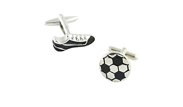 MasGemelos - Gemelos Bota y Balón de Fútbol Cufflinks: Amazon.es ...