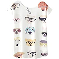 HHei_K Womens Ladies Casual Fashion Animal Print Tees Blouse Crew Neck Short Sleeve T-Shirt Tops