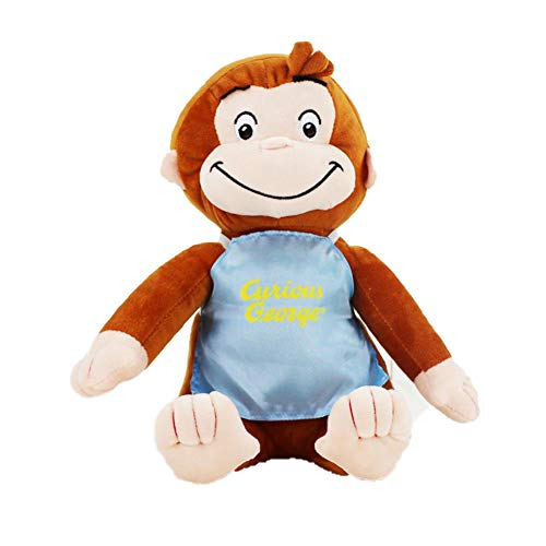 SJSXT 12quot,30cm Curious George Plush Doll Boots Monkey Plush Stuffed Animal Toys for Boys and Girls