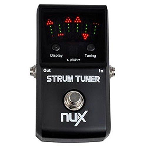 NUX Strum Tuner Multi-string Guitar & Bass Pedal Tuner Polyphonic Tuning (Strobe String Tuner)