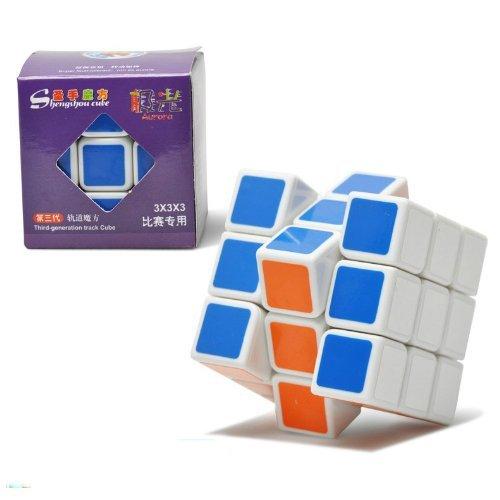 New , Shengshou V3 Aurora ( Jiguang ) 3x3x3 Speed Cube Puzzle 3x3. White