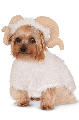 Fashion Animal Ram Sheep Goat Horns Pet Dog Costume New