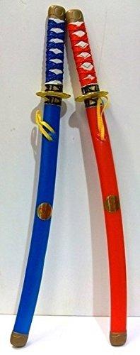 Plastic Toy Ninja Sword In Assorted Colours x 1 - assorted colour sent at random huggables ltd