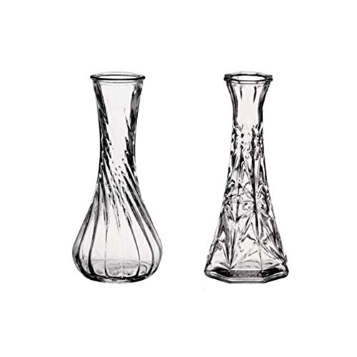 Bud Arrangements Vase - Floral Supply Online - Case of 4 Assorted Styles of 6
