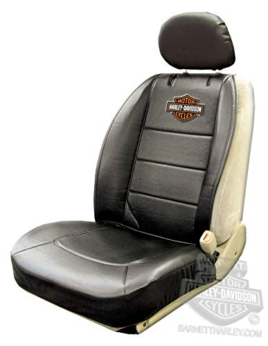 Harley Seat Covers - Harley-Davidson Seat Cover Sideless Black With Orange B&S - Single