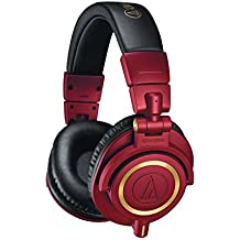 Audio-Technica ATH-M50xRD Professional Monitor Headphones, Red