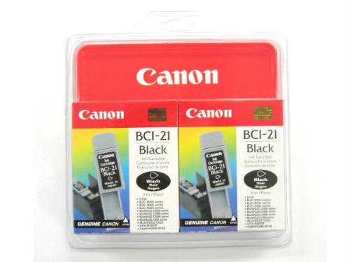 Canon Model BCI-21BK Black Ink Tank - Twin ()