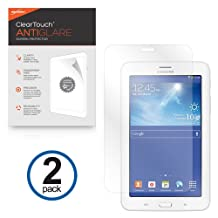BoxWave Samsung Galaxy Tab 3 Lite 7.0 ClearTouch Anti-Glare Screen Protector (2-Pack) - Premium Quality Samsung Galaxy Tab 3 Lite 7.0 Anti-Glare, Anti-Fingerprint Matte Film Skin to Shield Against Scratches (Includes Lint Free Cleaning Cloth and Applicator Card)