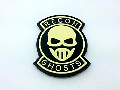 Recon Ghosts Brillan En La Oscuridad PVC Airsoft Parche: Amazon.es: Deportes y aire libre