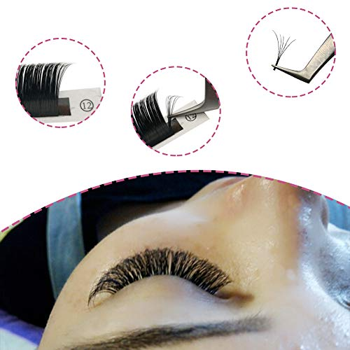 6764bef1aa9 Volume Lash Extensions D Curl 0.07mm 2D~20D Mixed Tray Easy Fan Volume  Lashes