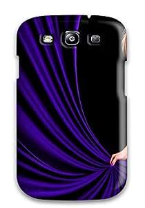 Galaxy S3 Purple Gown Girl Artistic Women People Women Print High Quality Tpu Gel Frame Case Cover