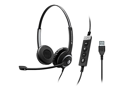Sennehiser Circle Seriers SC 260 USB CTRL II Wired Double-Sided Headset Connects to Softphone via a USB