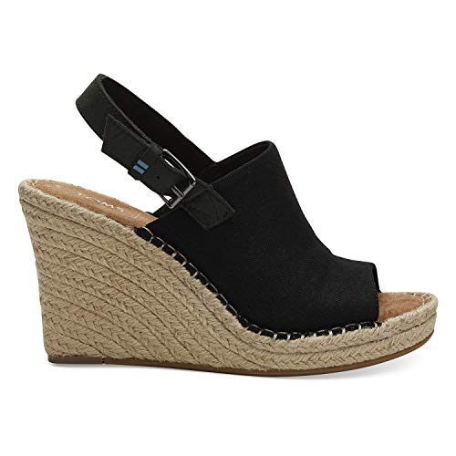 TOMS Black Oxford Women's Monica Wedges (Size: 7)