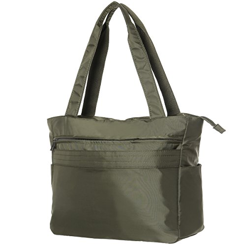 TENXITER Women Fashion Large Tote Shoulder Handbag Waterproof Tote Bag Multi-function Nylon Travel Shoulder (Green) by TENXITER