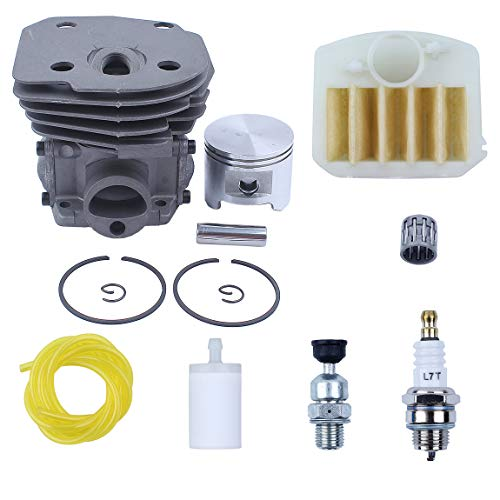 Haishine 45mm Cylinder Head Piston Air Filter Switch Engine Kit Fit Husqvarna 353 351 350 346 346XP 345 340 Chainsaw Motor Rebuild Parts