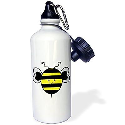 Cute Kawaii Bumble Bee Sports Bouteille d'eau en acier inoxydable Bouteille d'eau pour femme homme enfants 400ml